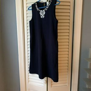 Girls navy dress with rhinestones